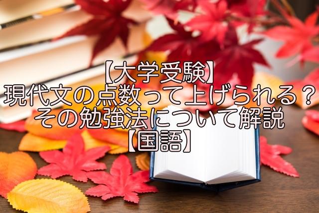 【大学受験】 現代文 の点数って上げられる?その勉強法について解説【国語】