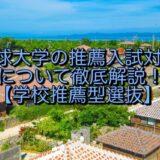 琉球大学の推薦入試対策について徹底解説!【学校推薦型選抜】